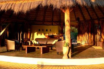 Lounge at Kwando Camp